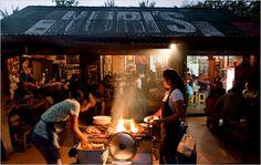 warung, roadside food stands in Ubud, Bali
