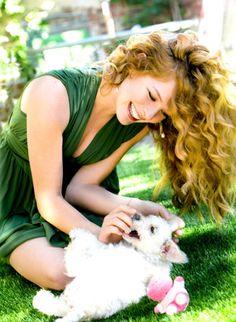 Rachelle Lefevre with her first shelter dog, Honey.