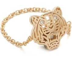 KENZO Mini Tiger Ring (6.530 RUB) ❤ liked on Polyvore featuring jewelry, rings, kenzo jewelry and kenzo
