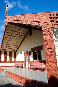 Marae (Maori meeting house) in Nuhaka - love this woman's pictures
