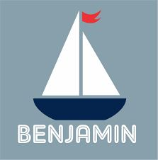 Sailboat with boys name wall decal new design Personalized wall decal Nautical decor Name Wall Decals, Vinyl Decals, Personalized Wall Decals, Flag Colors, Vinyl Signs, Boy Names, Sailboat, Art For Kids, Red And White