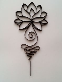 Quilling picture Lotus, quilling wall art, quilling home decor Quilling could be the art of creating images, objects and objects from coils of paper whi Quilling Paper Craft, Paper Crafts, Diy Crafts, Book Crafts, Quilling Patterns, Quilling Designs, Body Art Tattoos, Small Tattoos, Henna Designs