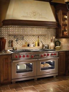 Wolf 60 Inch Pro-Style Dual-Fuel Range with 6 Dual-Stacked Sealed Burners, cu. Dual Convection Ovens, Self-Clean, Double Griddle, Star-K Certified Sabbath Mode and Pivoting Hidden Touch Controls: Natural Gas Kitchen Stove, Kitchen Redo, Home Decor Kitchen, New Kitchen, Home Kitchens, Kitchen Dining, Kitchen Remodel, Kitchen Cabinets, Kitchen Appliances
