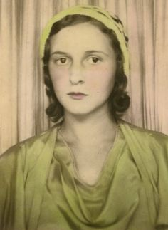 +~ Vintage Photo Booth Picture ~+  Lady in Green