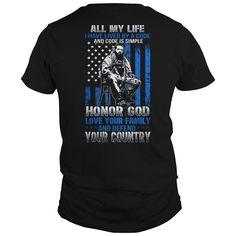 454 flag veteran  honor god love family  military - Tshirt