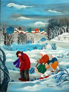 Galerie des toiles de Chantal Maurer peintre naïf