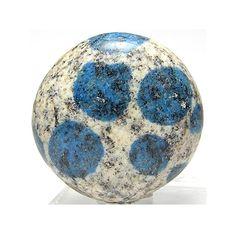 K2 Azurite in Granite Polished Stone Jewel by FenderMinerals