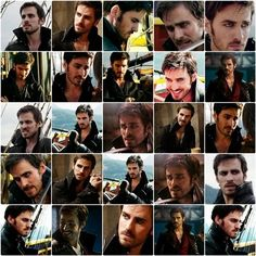 Many faces of hook I do love a wicked pirate!!  Once Upon A Time!!