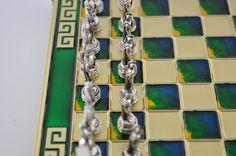Greek warrior chess set 20X20cm / Bronze chess by CraftsAndMetal