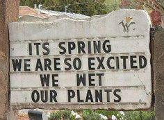 Funny Garden Sign!