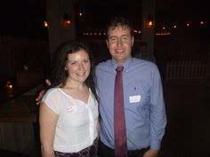 #Lawyer Evan Guthrie with Stephanie Richards, Charleston School of Law Class of 2017 at the Charleston County Bar Association Student Division Mentorship Meet And Greet at Prohibition in Charleston, SC on Tuesday October 14, 2014