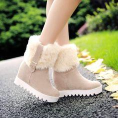 Fur Platform Snow Boots Plus Size Women Shoes 5256 - Women's style: Patterns of sustainability Women's Shoes Sandals, Shoe Boots, Flats, Flat Sandals, Shoes Sneakers, Fashion Boots, Sneakers Fashion, Kawaii Shoes, Mode Outfits