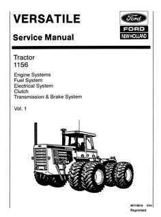 Ford 345C, 445C, 545C Backhoe Loader Tractor Service