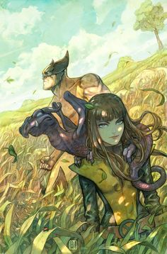 Wolverine and Kitty Pride. Art by Niko Henrichon.