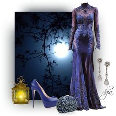 A fashion look from December 2013 featuring open-toe pumps, handbags clutches and diamond dangle earrings. Browse and shop related looks. Royal Blue Gown, Prom Dresses, Formal Dresses, Sexy Outfits, Blue And White, Gowns, How To Wear, Clothes, Collection