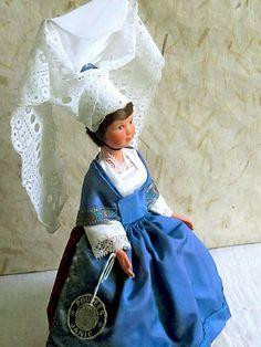French Normandy Bayeux costume doll folk doll by plastickingdom
