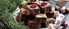 Kostky posypané vlašskými ořechy Desserts, Food, Tailgate Desserts, Deserts, Essen, Postres, Meals, Dessert, Yemek