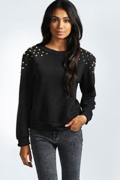 Alice Studded Shoulder Sweatshirt