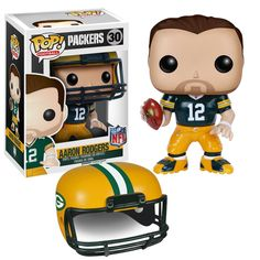 """Hut, Hut, Hike! Funko continues to celebrate all your favorite gridiron greats with wave 2 of their NFL POP Vinyl Figures! Each 3 3/4"""" stylized figure features a removable helmet and comes packaged in Packers Baby, Packers Football, Greenbay Packers, Packers Memes, Packers Funny, Football Fever, Football Baby, Clay Matthews, Green Bay Packers Fans"""