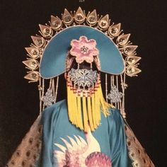 """One of Eiko Ishioka's costumes for the Broadway production of """"M. Butterfly"""" 1988"""