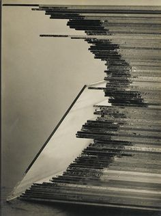 Stacking of Glass Plates (1929), gelatin silver print. By Willy Zielke