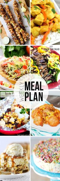 Use our weekly meal plan full of easy recipe ideas to plan your menu this week! 6 dinners and 2 desserts from your favorite bloggers.
