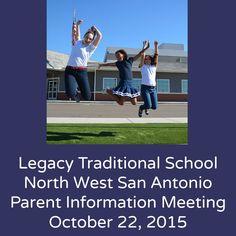 Legacy Traditional School North West San Antonio parent information meeting on October 22, 2015   San Antonio Charter Moms