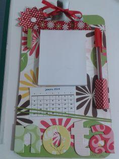 Prancheta porta recado com calendário - ART Dea artesanatos