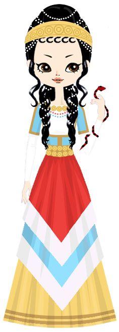 Ariadne, mythological Cretan princess, daughter of King Minos, c. 1400 BC by marasop