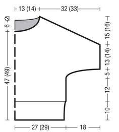 Схема и описание вязания на спицах классического джемпера с узором из кос из журнала Verena №4/2015