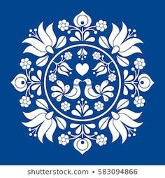 Folk Embroidery Patterns Hungarian folk vector motif - Buy this stock vector and explore similar vectors at Adobe Stock - Hungarian Embroidery, Folk Embroidery, Learn Embroidery, Embroidery Stitches, Embroidery Patterns, Indian Embroidery, Folk Art Flowers, Flower Art, Bordado Popular