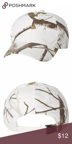 Real Tree Camouflage Hat by Kati NEW Brushed cotton/polyester blend Blaze is 100% polyester Structured, six-panel, mid-profile Pre-curved visor with matching undervisor Sewn eyelets Self-fabric Flex-Strap closure Realtree All Purpose Pink and Muddy Girl are Women's fits  Brand new!!! Adjustable Real Tree Camo by Kati Accessories Hats