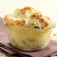 Asparagus-Goat Cheese Soufflés  From EatingWell    why do i not have enough ramekins to make this??