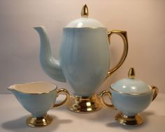 Norway Norsk Egersund Flint Harlequin Coffee Pot Creamer and Sugar Bowl | eBay
