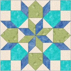 Rolling Star 2 Template Block | Craftsy