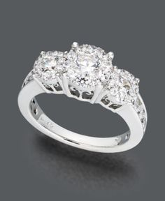 Prestige Unity Diamond Ring, 14k White Gold Diamond Engagement Ring (2 ct. t.w.) - Rings - Jewelry & Watches - Macy's