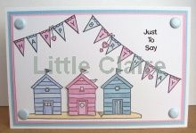 Little Claire Designs Cards Diy, Handmade Cards, Beach Cards, Beach Huts, Card Designs, Beach Themes, Bunting, Seaside, Claire