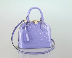 Louis Vuitton Alma BB in Lilas. Never thought I was a purse person. Pinterest is turning me into one.