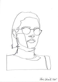 """borisschmitz:    """"Gaze 334″, continuous line drawing by Boris Schmitz"""