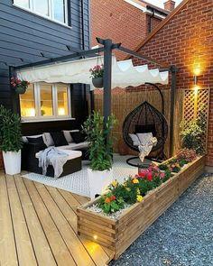 Cozy Backyard, Backyard Privacy, Backyard Patio Designs, Backyard Projects, Backyard Landscaping, Outside Living, Outdoor Living, Outdoor Decor, Back Garden Design