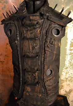 The Loam Custom Post Apocalyptic Horror Cyberpunk Witch Biker Ritual Removable Armor Stagewear OOAK Vest