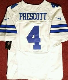 ... DAK PRESCOTT 4 Nike On-Field White Stitched Cowboys Jersey SZ-44  NWTFREE Dallas ... 1a420a251
