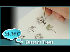 How to Paint Tree Studies in Watercolor – Detailed Shapes - YouTube