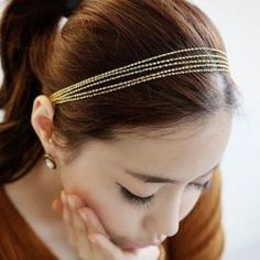 $2.93 Fashion Golden Multilayered Alloy Hairband For Women