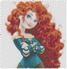 Merida cross stitch pattern PDF by Bluegiantstitch on Etsy, £2.20