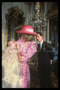 At William's christening on August 4 1982 in the Music Room in Buckingham Palace