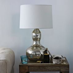 Gourd Table Lamp - Mercury | west elm