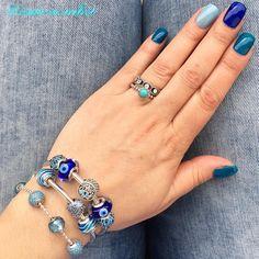 #pandora #dopandora #beautiful #ocean #meer #bleu #pandorabangle #rings #pandorarings #bracelets #pandoraessence #pandorabracelet…