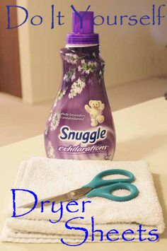 DIY Dryer Sheets that are less expensive and safer to use. Also reusable.