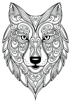 Wolf Adult Coloring Pages from Animal Coloring Pages category. Printable coloring pictures for kids you could print out and color. Have a look at our selection and printing the coloring pictures for free. Insect Coloring Pages, Mandala Coloring Pages, Animal Coloring Pages, Coloring Book Pages, Coloring Pages For Kids, Coloring Sheets, Kids Coloring, Coloring For Adults, Peacock Coloring Pages